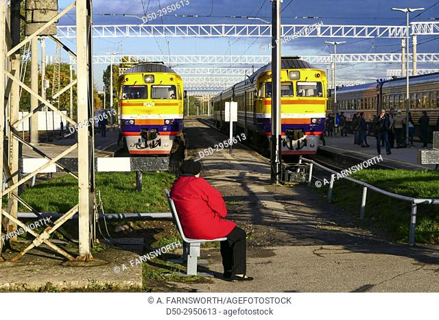 Riga, Latvia central train station and platform