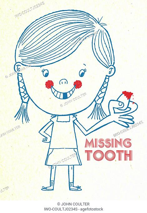 Girl and Missing Tooth