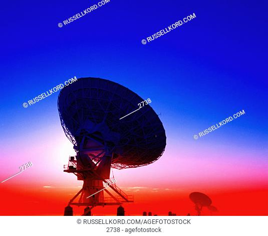 VLA Radio astronomy telescopes. New Mexico. USA