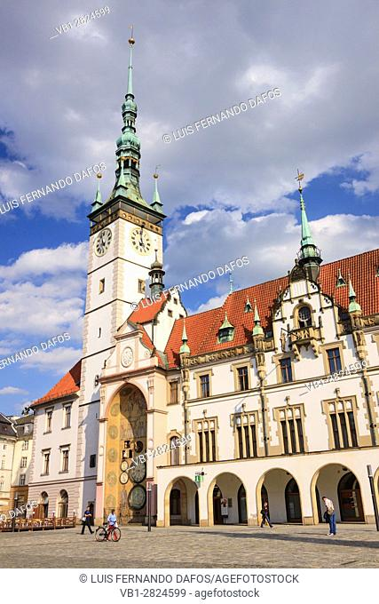 Town Hall at Upper Square (Horni nam) of Olomouc, Moravia, Czech Republic, Central Europe