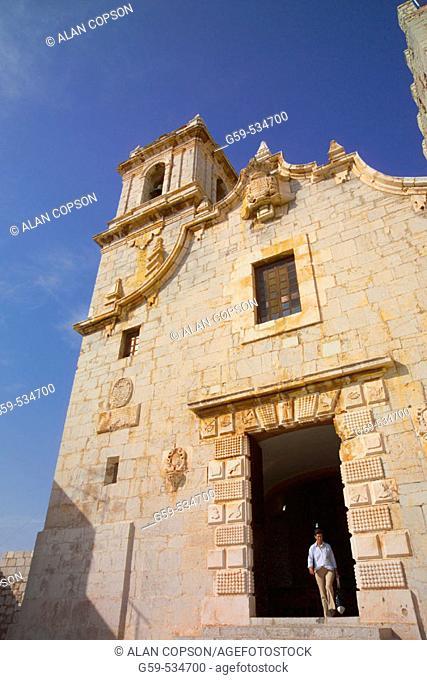 Spain Valencia Region (La Comunidad Valenciana) Castellon Province Peniscola Old Town Nuestra Senora de Ermitana