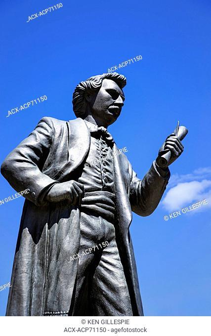 Louis Riel statue, Winnipeg, Manitoba, Canada