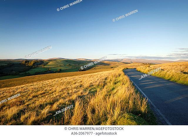 View of Black Mountains (Y Mynydd Du) Cefn Gwrhyd Brecon Beacons National Park Neath Port Talbot Wales