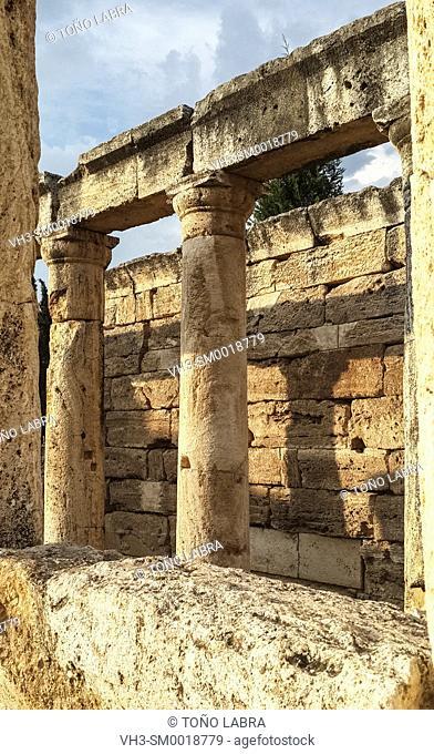 Hierapolis Latrines. Ancient Greece. Asia Minor. Turkey