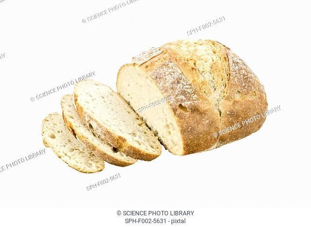 White artisan bread