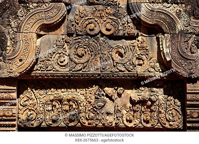 Banteay Srei temple, Angkor, Siem Reap, Cambodia