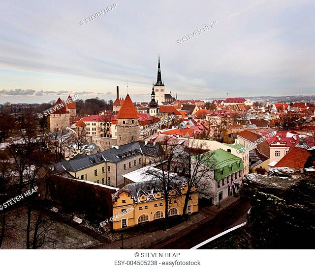 View of the old town of Tallinn in Estonia