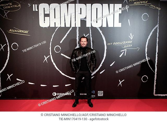 Stefano Accorsi during the photocall of film Il Campione, Rome, ITALY-17-04-2019