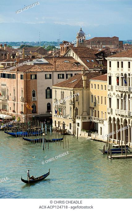 Views of the Grand Canal from the T Fondaco Dei Tedeschi, Venice, Italy