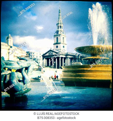 Trafalgar Square. London. England