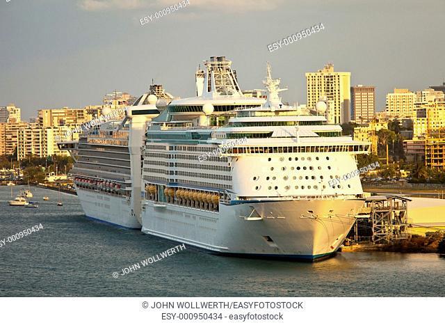 cruise ship 'Adventure of the Seas' in port, san juan puerto rico