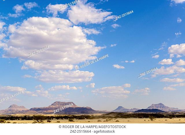 Desert view. Desert Rhino Camp. Palmwag Concession. Namibia