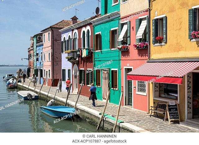 Coloufully painted homes, Burano, Italy
