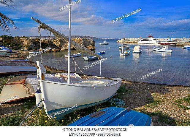 Nova Tabarca island port in Alicante of Spain