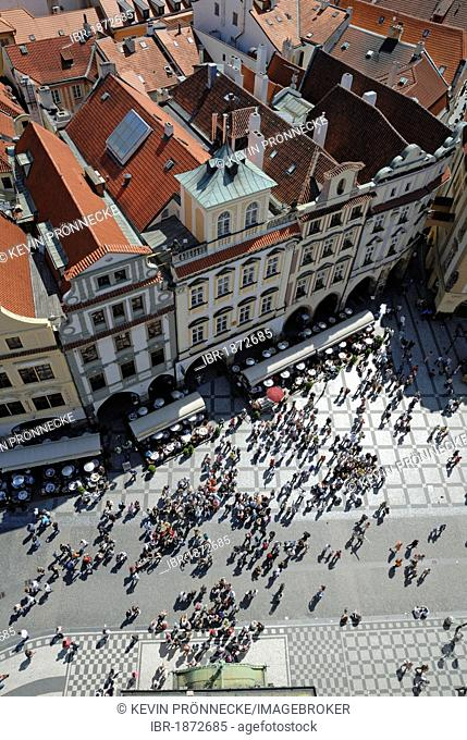 Cityscape view from the Old Town Hall, Prague, Czech Republic, Europe