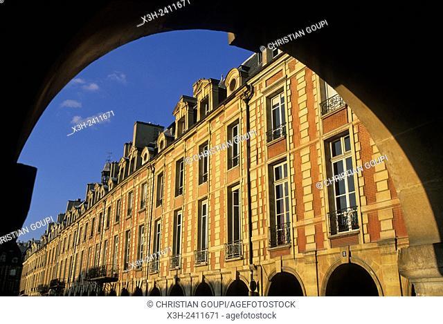 place des Vosges, Marai district, Paris, Ile de France region, France, Europe