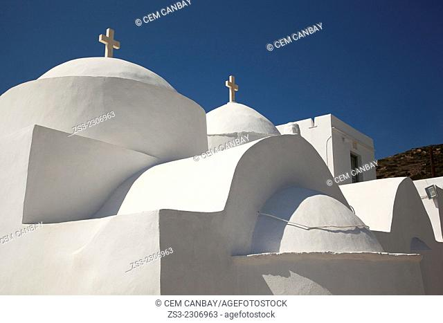 Orthodox church of Taxiarches in Vathi village, Sifnos, Cyclades Islands, Greek Islands, Greece, Europe