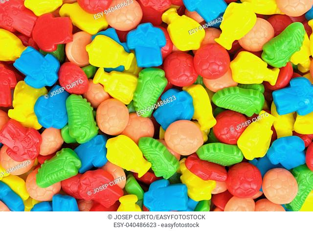 group of gummy candies