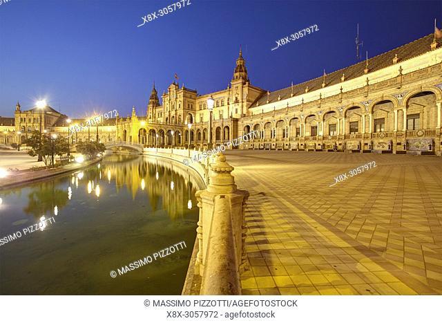 Plaza de España (Spain Square) in Seville, Spain