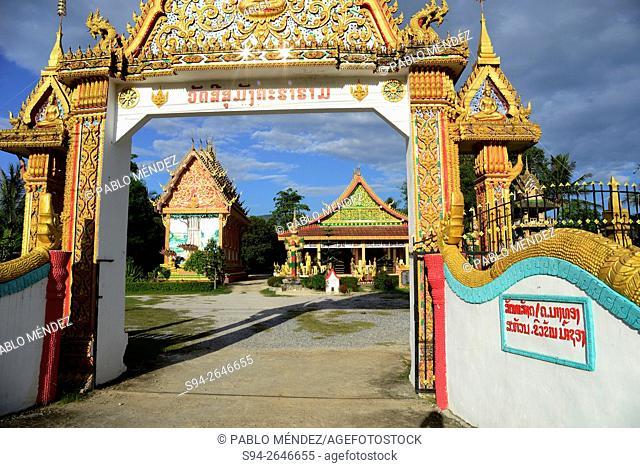 Temple Wat Si Suman in Vang Vieng, Vientiane, Laos