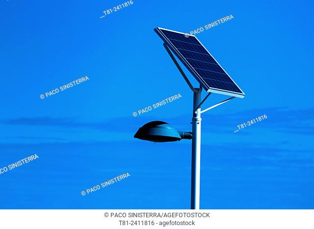 Lamp with solar panel energy, Valencia
