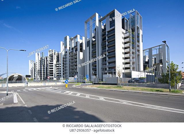 Italy, Lombardy, Milan, Portello District, Residenze Parco Vittoria by Studio Canali Associati