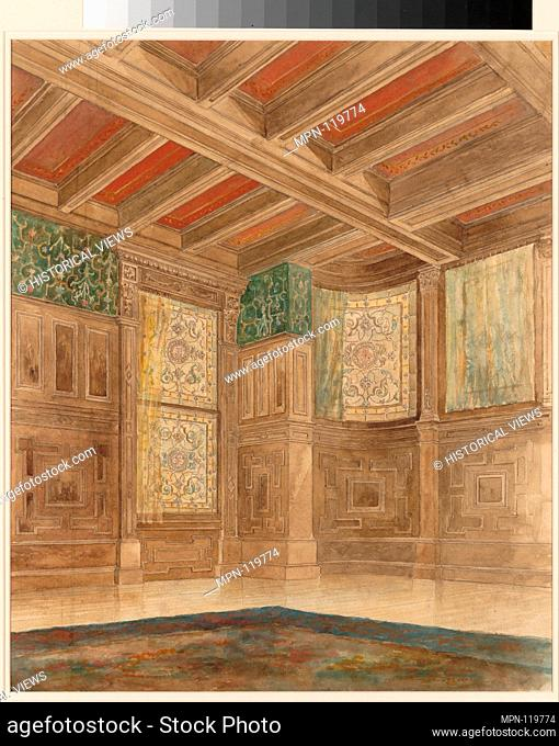 Design for an interior. Artist: Louis Comfort Tiffany (American, New York 1848-1933 New York); Maker: Tiffany Glass and Decorating Company (American