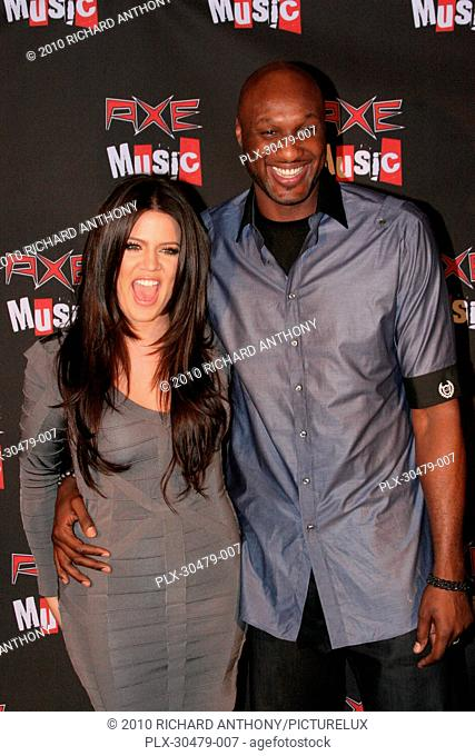 Khloe Kardashian and Lamar Odom at the AXE Music One Night Only Concert Series. Arrivals held at the Dunes Inn Motel-Sunset in Hollywood, CA Tuesday