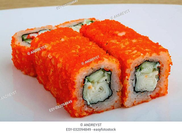 Japan traditional cusine - fresh cold California roll