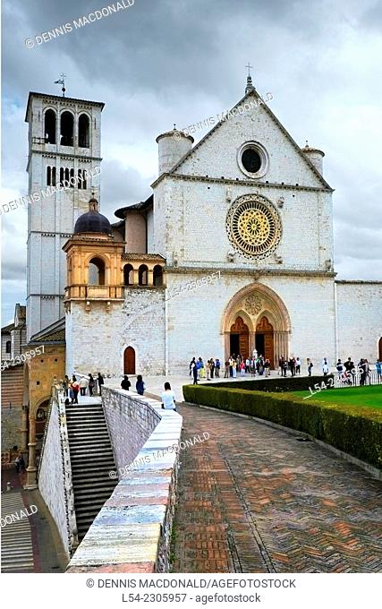 Basilica Saint Francis Assisi Catholic Church Italy Tuscany Umbria IT EU Europe