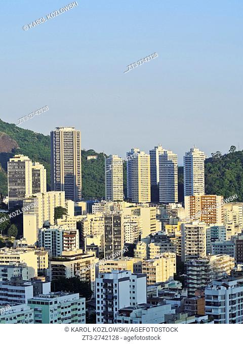 Brazil, City of Rio de Janeiro, Elevated view of the Botafogo Neighbourhood