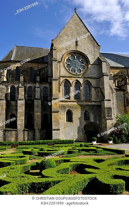 church adjoining the abbey of Mouzon, Ardennes department, Champagne-Ardenne region of northeasthern France, Europe