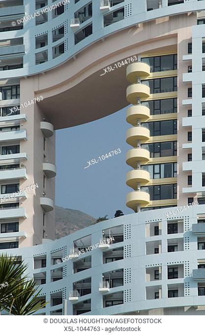 REPULSE BAY HONG KONG Apartment block with fung shui hole
