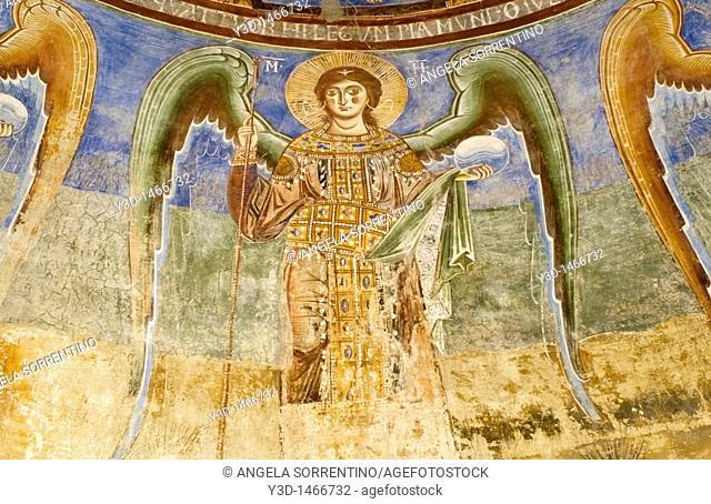 Ancient fresco of Sant'Angelo in Formis church, Capua, Campania, Italy
