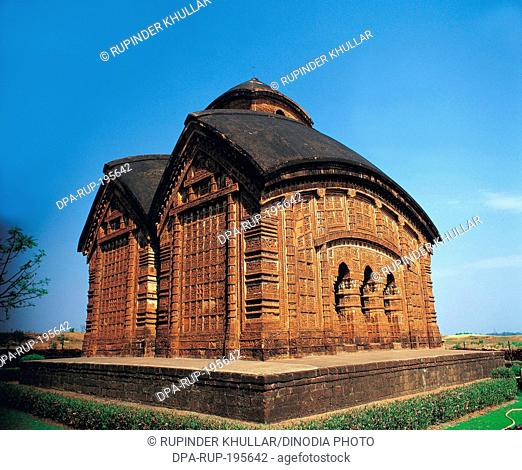 Bishnupur terracotta temple, kolkata, west bengal, india, asia