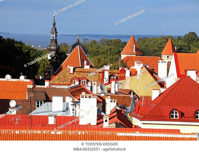 Old Town, roofs, Tallinn, Estonia, Europe