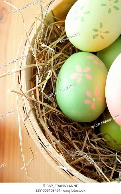 Easter Egg Basket Overhead