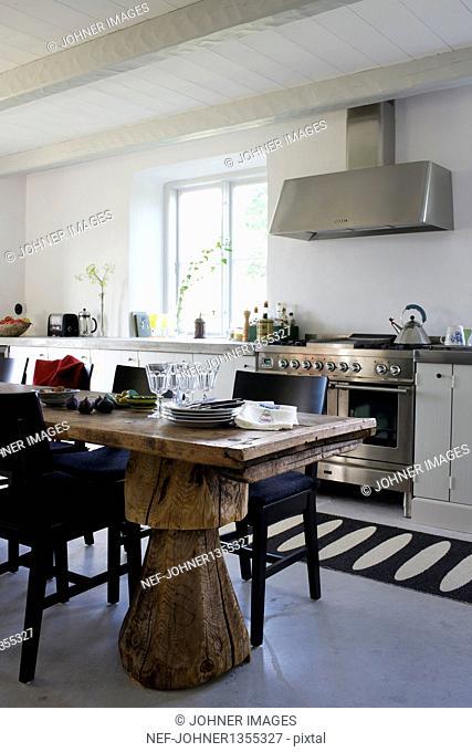 Scandinavian style domestic kitchen