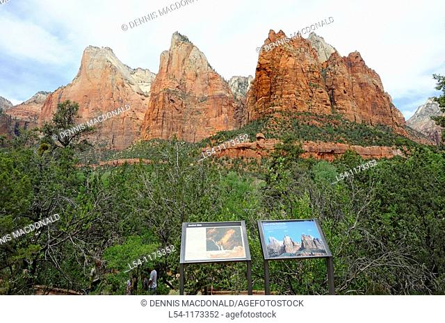 Court of the Patriarchs Mount Zion National Park Utah