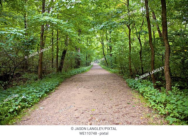 Trail through Cuyahoga Valley National Park, Cleveland, Ohio, USA