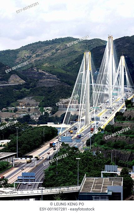 Ting Kau Bridge. Cable-stayed bridge in Hong Kong