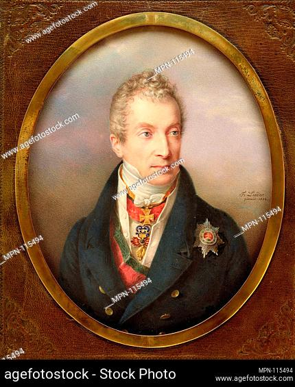 Prince Klemens Wenzel Lothar von Metternich (1773-1859). Artist: Friedrich Johann Gottlieb Lieder (German, 1780-1859); Date: 1822; Medium: Card laid on recent...