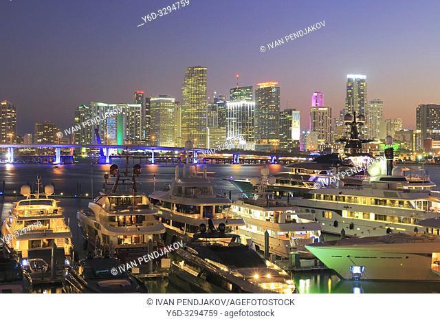 Miami at Dusk, Florida, USA