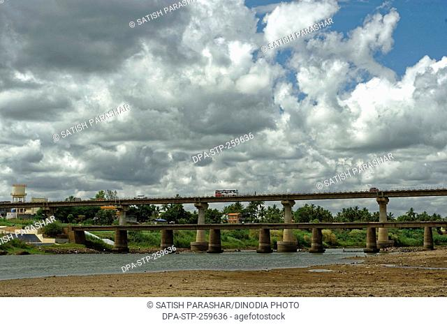 bridge on Krishna river, kolhapur, Maharashtra, India, Asia