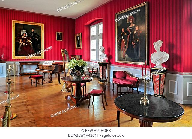 Interior of Chateau d`Amboise France. This royal castle is located in Amboise in the Loire Valley was built in the 15th century and is a tourist attraction
