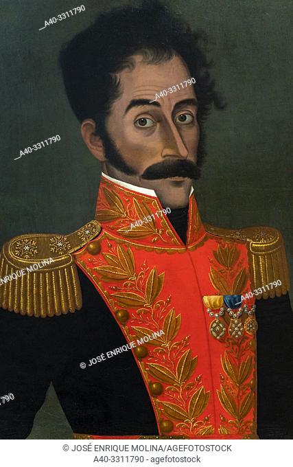 José Gil de Castro (Lima 1785-1837), Simón Bolivar portrait (1823), Peruvian painting, Art Museum of Lima, Lima, Peru