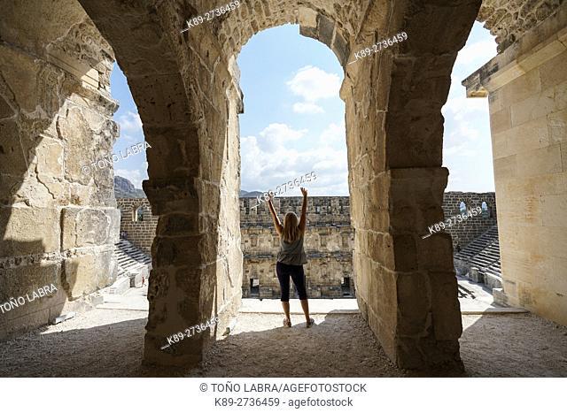 Aspendos amphitheater tunnel. Ancient Greece. Asia Minor. Turkey
