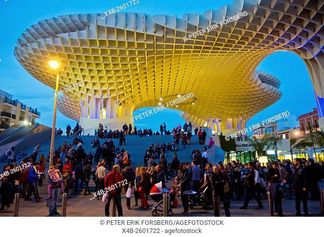 Espacio Metropol Parasol, Plaza de la Encarnacion, Sevilla, Andalucia, Spain