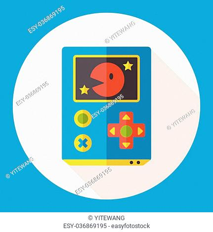 Handheld game consoles flat icon