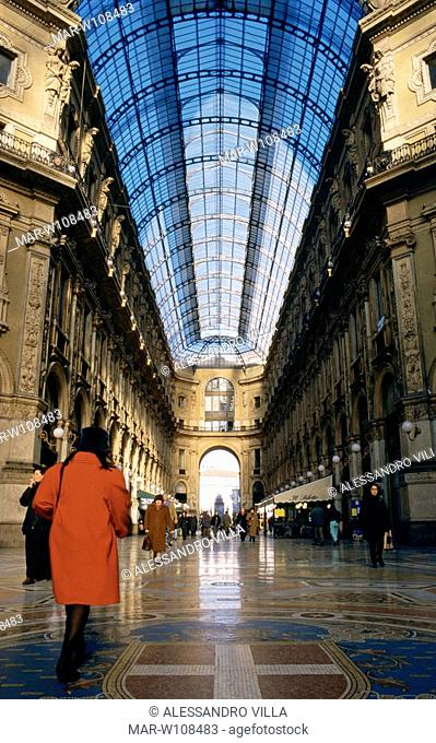 italy, lombardia, milan, vittorio emanuele gallery
